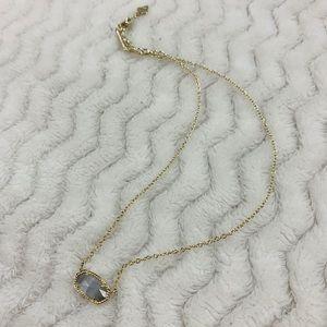 Kendra Scott Gold Elisa Pendant Necklace in Slate